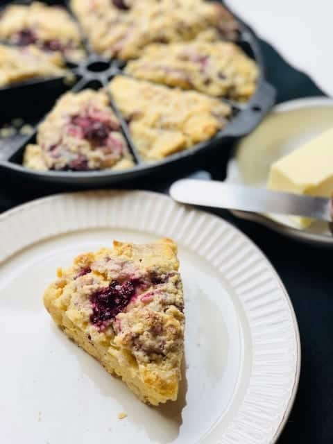 Blackberry and Sour Cream Scones