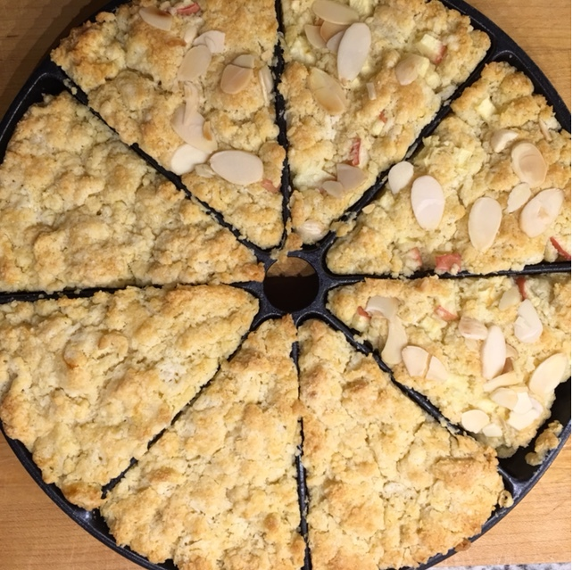Homemade Apple Almond Scones